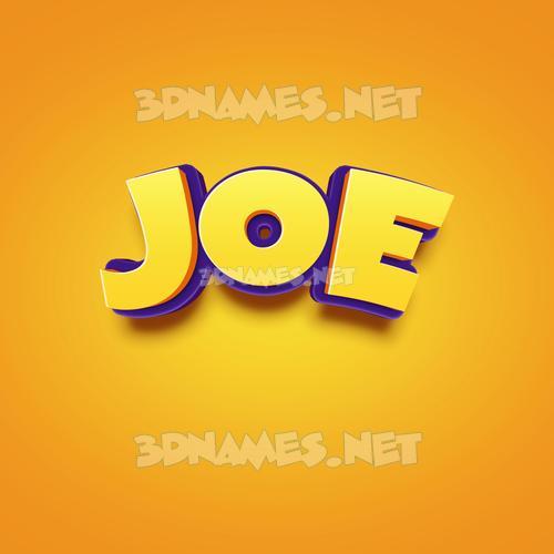 Orange Toon 3D Name for joe
