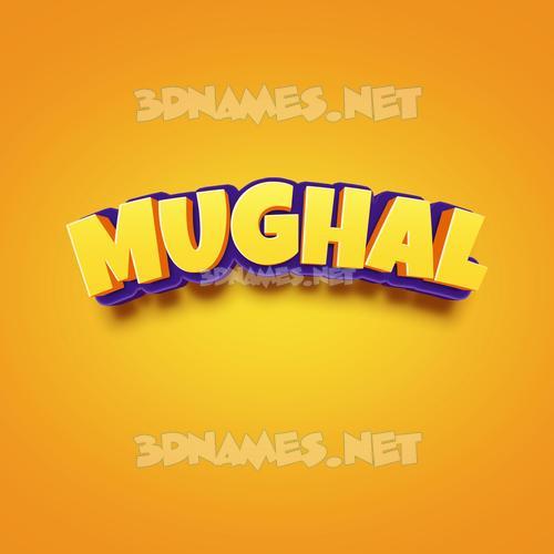 Orange Toon 3D Name for mughal