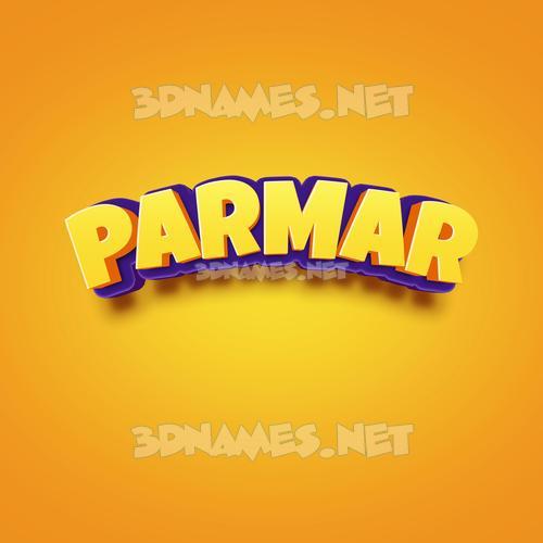 Orange Toon 3D Name for parmar