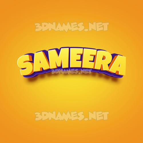 Orange Toon 3D Name for sameera