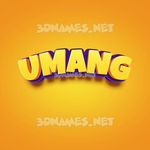 Orange Toon 3D Name for umang