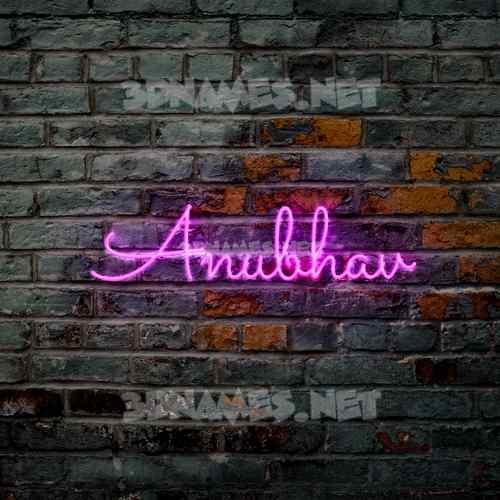 Pink Neon 3D Name for anubhav