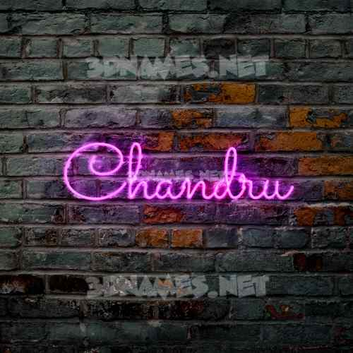 Pink Neon 3D Name for chandru