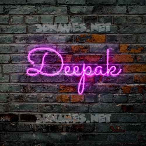 Pink Neon 3D Name for deepak