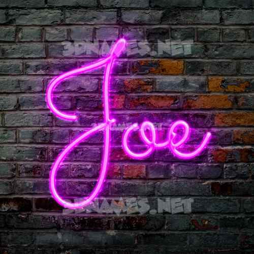 Pink Neon 3D Name for joe