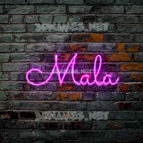 Pink Neon 3D Name for mala