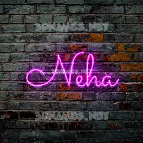 Pink Neon 3D Name for neha
