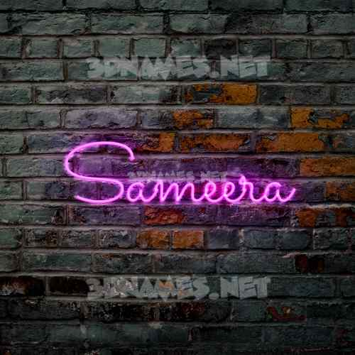 Pink Neon 3D Name for sameera