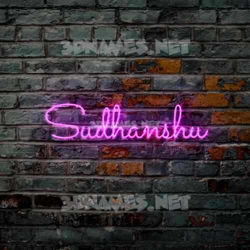 Pink Neon 3D Name for sudhanshu