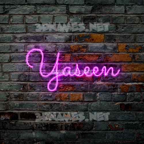 Pink Neon 3D Name for yaseen