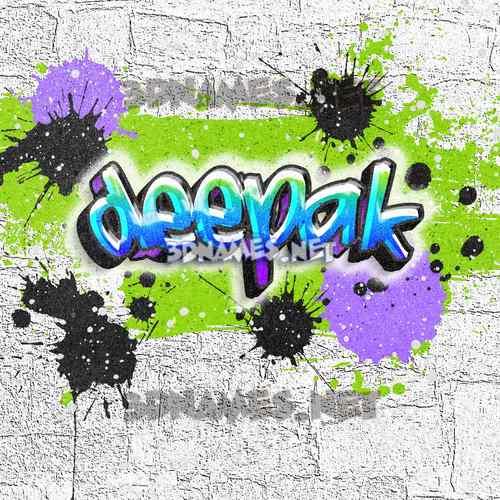Graffiti Grunge 3D Name for deepak