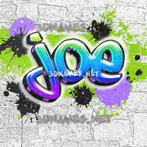 Graffiti Grunge 3D Name for joe