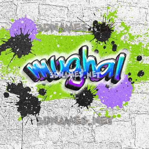 Graffiti Grunge 3D Name for mughal