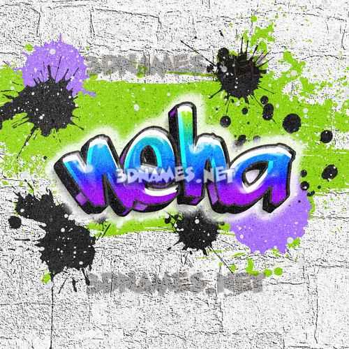 Graffiti Grunge 3D Name for neha