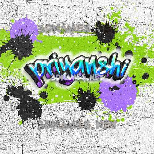 Graffiti Grunge 3D Name for priyanshi