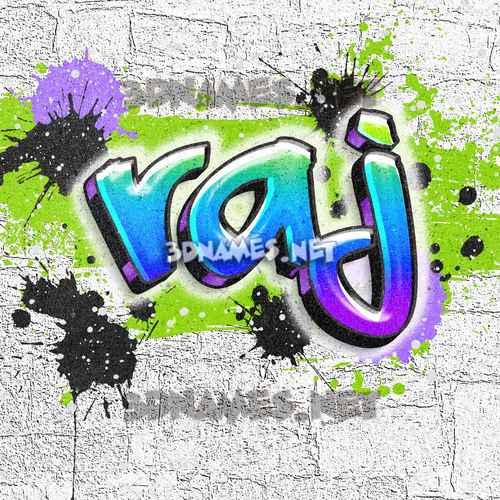 Graffiti Grunge 3D Name for raj