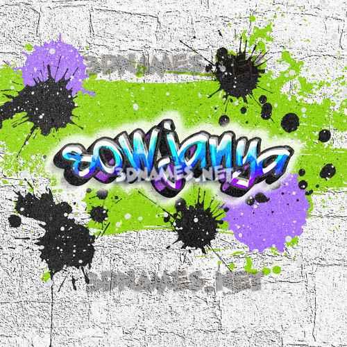 Graffiti Grunge 3D Name for sowjanya