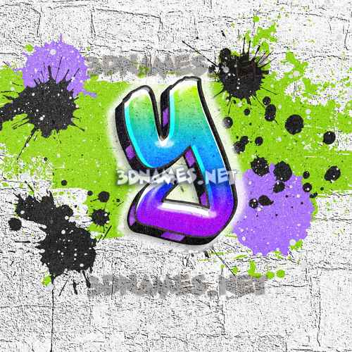Graffiti Grunge 3D Name for y