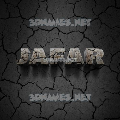 Cracked Stone 3D Name for jafar