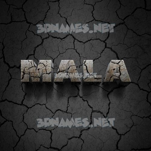 Cracked Stone 3D Name for mala