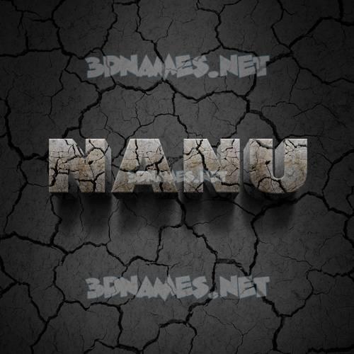 Cracked Stone 3D Name for nanu