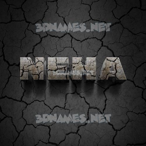 Cracked Stone 3D Name for neha