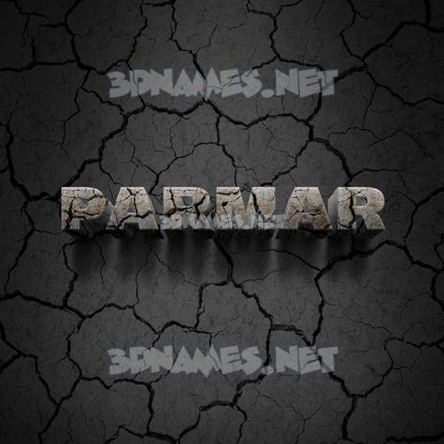Cracked Stone 3D Name for parmar