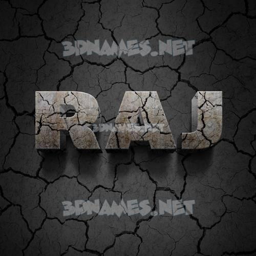 Cracked Stone 3D Name for raj