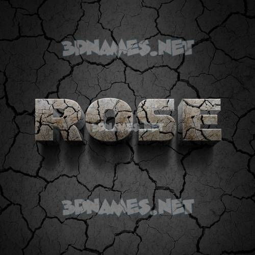 Cracked Stone 3D Name for rose