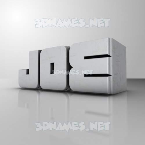 White Metro 3D Name for joe