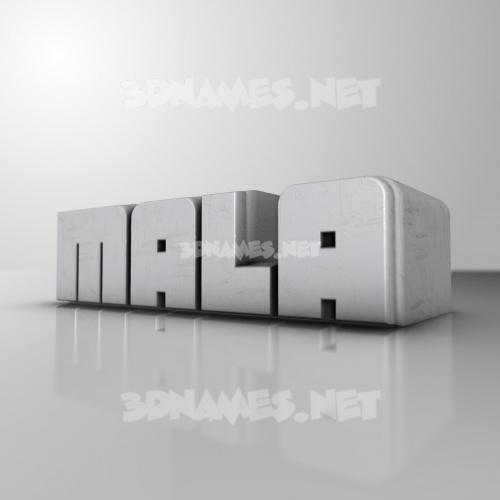 White Metro 3D Name for mala