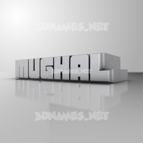 White Metro 3D Name for mughal