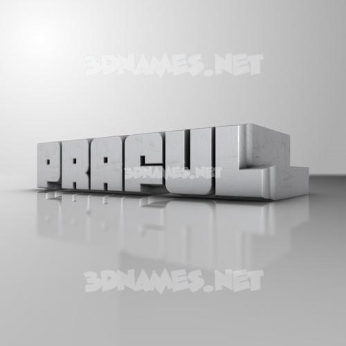 White Metro 3D Name for praful