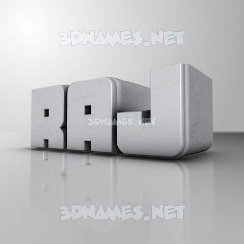 White Metro 3D Name for raj