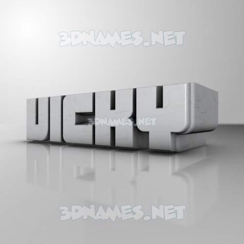 White Metro 3D Name for vicky
