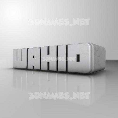 White Metro 3D Name for wahid