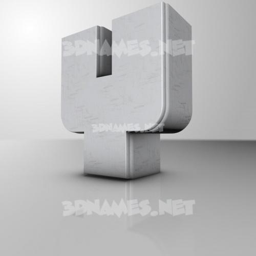 White Metro 3D Name for y