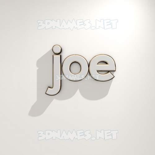 White Logo Warm 3D Name for joe