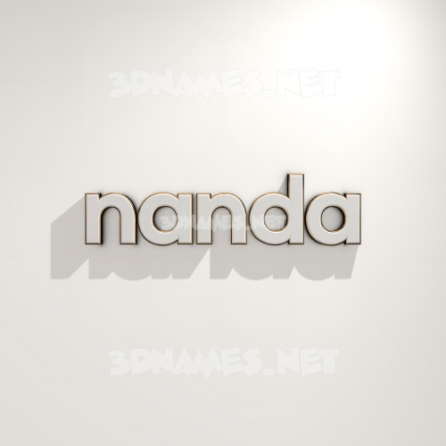 White Logo Warm 3D Name for nanda