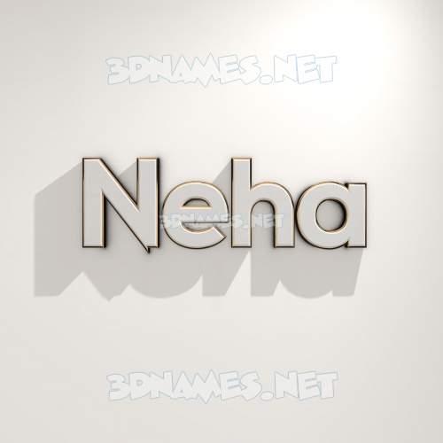 White Logo Warm 3D Name for neha