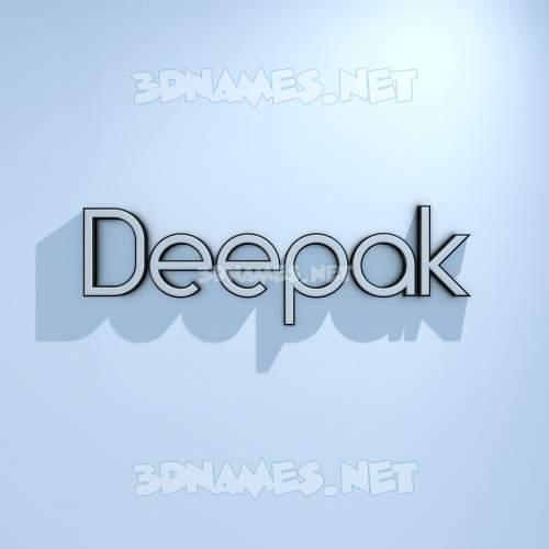 White Logo Cold 3D Name for deepak
