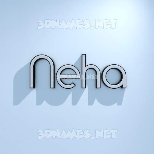 White Logo Cold 3D Name for neha