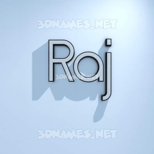 White Logo Cold 3D Name for raj