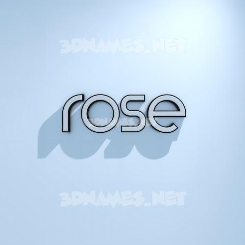 White Logo Cold 3D Name for rose