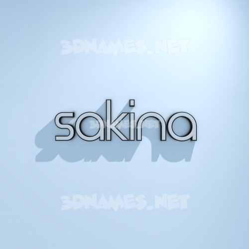 White Logo Cold 3D Name for sakina