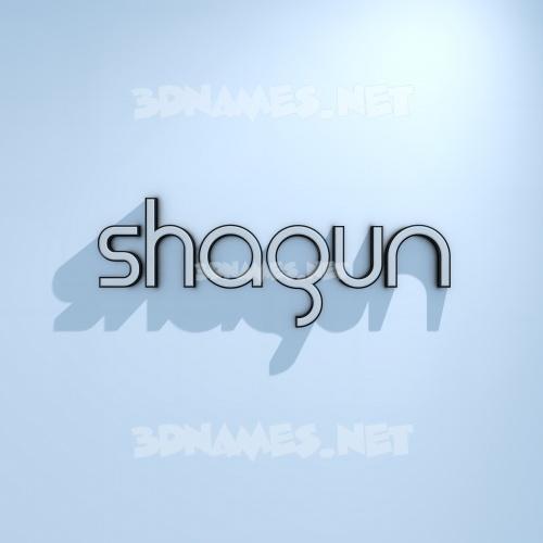 White Logo Cold 3D Name for shagun