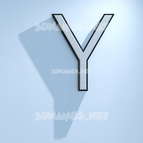 White Logo Cold 3D Name for y