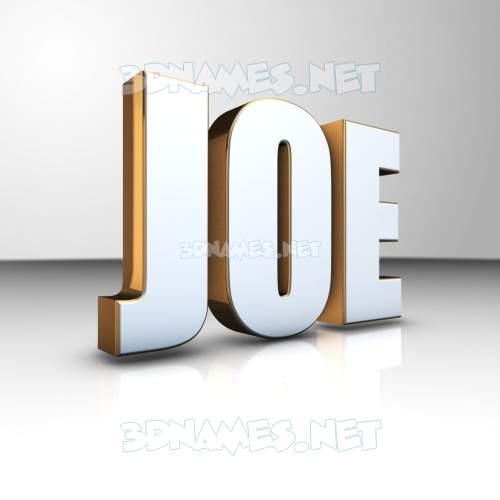 White'n'Gold 3D Name for joe
