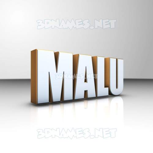 White'n'Gold 3D Name for malu