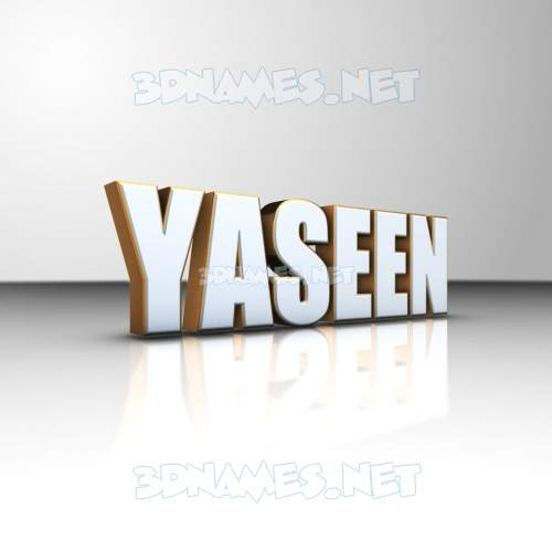 White'n'Gold 3D Name for yaseen